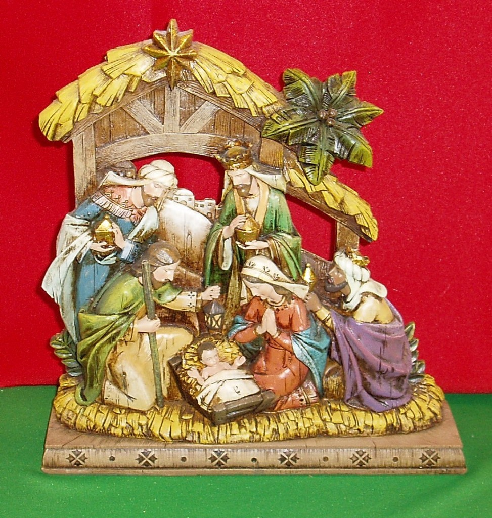 nativity sets tree