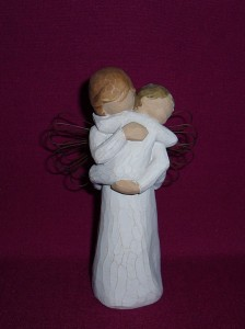 Angel's Embrace, a Willow Tree figurine