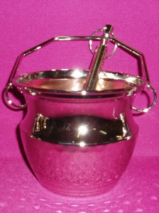 Holy water bucket, silver