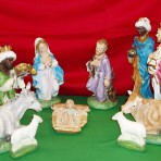Plaster Nativity Set