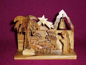 Olive wood ornament from the Holy Land