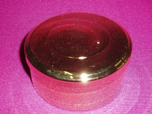 Large pyx which holds approx 60 wafers