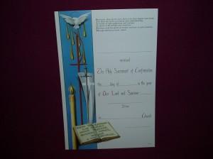 Certificate measuring 27cm x 18cm
