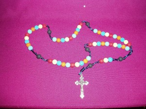 Children's Rosary made from food grade beads