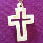 Olive Wood Pendant Cross