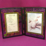 """""""Stained"""" Glass Baptism Frame"""