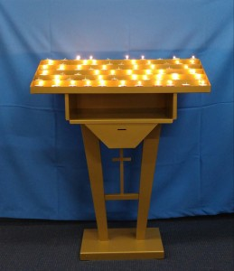 Votive Candle Stand, with 6 rows for tealights