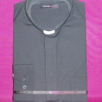 Black and Purple Clerical Shirts: Long Sleeve: 55% Cotton