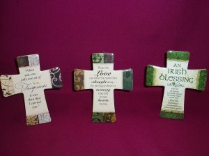 Porcelain Crosses with Inspirational Messages