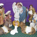 Canvas Nativity Set: 30cm