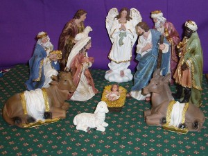 Canvas Nativity Set; 20cm tall