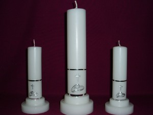 Set of Wedding Candles