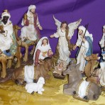Canvas Nativity Set with Camels: 20cm