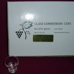 Box of Glass Communion Cups