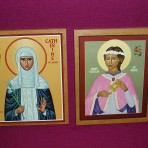 Icons: St Catherine and St Cecilia