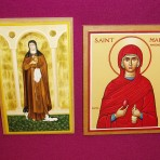 Icons: St Clare and St Mary Magdalene