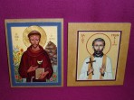 Icons: St Francis and St Francis Xavier