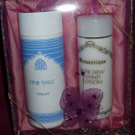 Gift Set: Rose Dew Hand Lotion and Talc