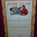 92/FHC9: First Holy Communion Certificate