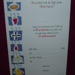 CE297: Communion and Confirmation Certificate
