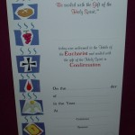 Combined Communion/Confirmation Certificate