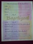 CF11: Baptism Certificate