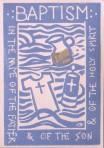 Carmel's Baptism Card: Boy
