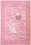 Carmel's Baptism Card: Girl