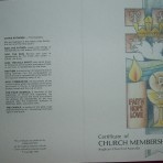 Certificate of Church Membership