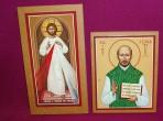 Icons: Divine Mercy and St Ignatius