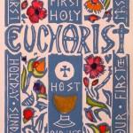 Carmel's First Eucharist Card: Blue