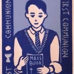 Carmel's First Communion Card: Boy