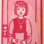 Carmel's First Communion Card: Girl