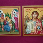 Icons: Jesus and the Children; Guardian Angel