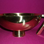 Large Gold Paten with Handle
