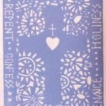 Carmel's First Reconciliation Card: Boy