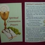Spiritual Communion Prayers