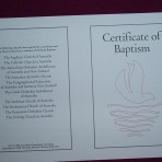 Baptism Certificate: For All Denominations