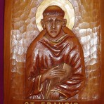 Wood Carved St Francis Plaque